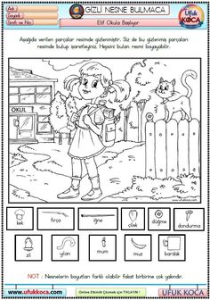 Coloring Pages For Kids, Kids Coloring, Turkish Language, Hidden Pictures, Printable Activities For Kids, Dots, Diagram, Study, Challenges
