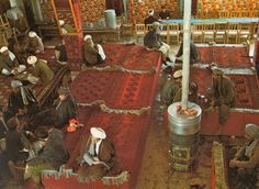 afghan and rugs... Roland Michaud.