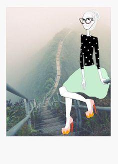 Polaroid illustration on Flavie's blog !