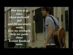 "Joe Brooks - These Broken Hands of Mine - ""Well, God knows you're barely standing but you've got to carry this heavy load."" <3"