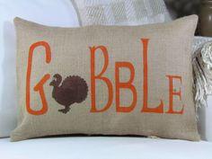 GOBBLE throw pillow