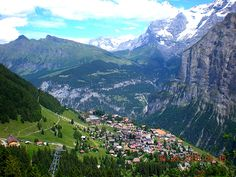 Murren, Switzerland - my most favorite place on earth!