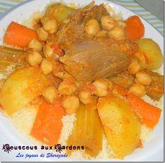 couscous aux cardons, couscous aux khorchefs
