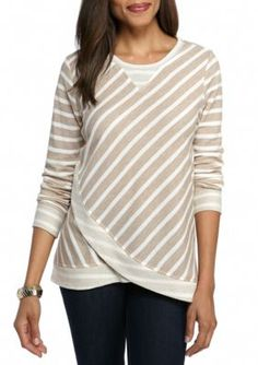 Ruby Rd Fawnmu Sporty Chic Long Sleeve Top