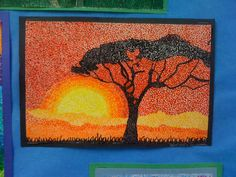 More pointillism by grade 7 students