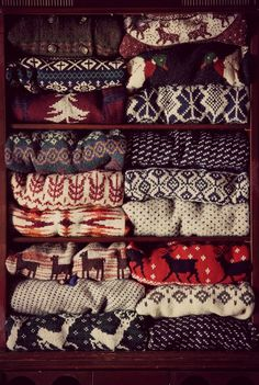 Christmas sweater season ❤ or just sweater season in general want my closet to look like this