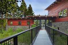 johnston architects combine work and play in cle elum lake basecamp