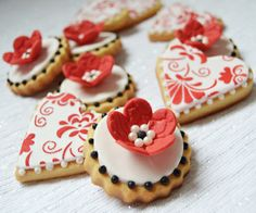 Cupcakes a diario: Mis galletas para San Valentín... Vainilla y chocolate