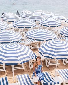 Endless sea of blue & white | Image via Gal Meets Glam