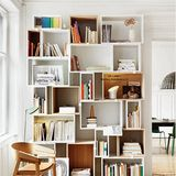 Form or function? I know I struggle with that question at times. Here are 13 unconventional shelving ideas that marry the logical and creative, for the best of both worlds.