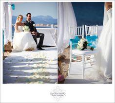 Cap Rocat Mallorca Wedding - Beach ceremony: Wedding right on the sea front at Cap Rocat www.caprocat.com
