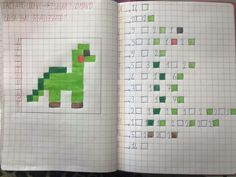 Dinosauro coding Coding Classes For Kids, Computational Thinking, Graph Paper Art, Pixel Art, Stem Science, Project Based Learning, Math For Kids, Math Games, Preschool Activities
