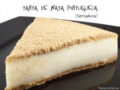 Tarta de Nata Portuguesa (Thermomix) Easy Desserts, Dessert Recipes, Desserts With Biscuits, Dessert Bread, Cheesecake Recipes, Love Food, Sweet Recipes, Sweet Treats, Cooking Recipes