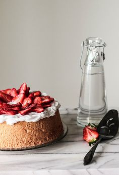 Berry Topped Angel Food Cake via Pastry Affair