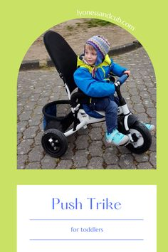 [Ad] Before he gets his first bicycle, he's learning to maintain his balance on a push trike with conversion (you can take off the pushing rod, so he's all by himself). He can be buckled in for added safety. The little basket in the back is just perfect for a quick trip to the grocery store together. This push trike gets a fair bit of use almost every day. One step closer to independence ;) Sun Roof, Sand Toys, Letting Go Of Him, Wearing A Hat, Rubber Tires, He Is Able, Tricycle, Toddler Toys
