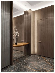 ✔ 90 luxury bedrooms with images, tips & accessories to help you design yours 24 Foyer Design, Lobby Design, Entrance Design, House Design, Design Homes, Hall Design, Apartment Entrance, Home Entrance Decor, Entryway Decor