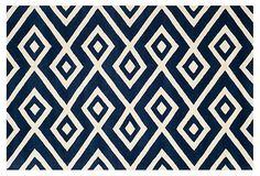 Douglas Rug, Dark Blue/Ivory on OneKingsLane.com