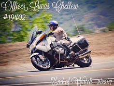 RIP California Highway Patrol Motor Officer Lucas Chellew! #thinblueline
