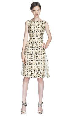 Backless Leopard Dress by Giambattista Valli
