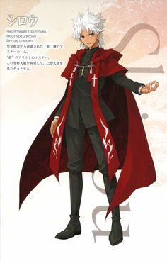 Tags: TYPE-MOON, Scan, Character Sheet, Konoe Ototsugu, Official Art, Fate/Apocrypha, Kotomine Shirou (Fate/Apocrypha)