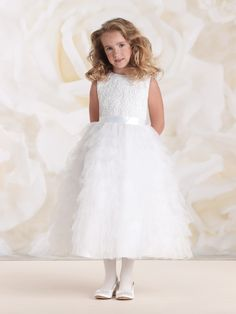 6b4e08e99bf Joan Calabrese by Mon Cheri - Flower Girl Dress Style No.115326B First Communion  Dresses