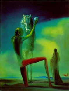Knights of Death - Salvador Dali  1937.... i love dali. The creepy vibe is what intrigues me more.