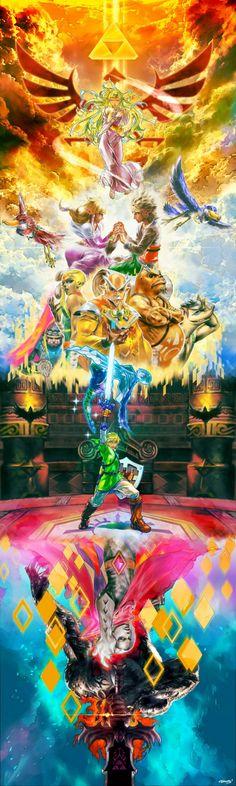 """Incredible """"Legend of Zelda: Skyward Sword"""" Banner Art"""