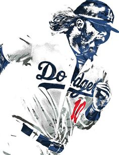 72e4b96732d Justin Turner Los Angeles Dodgers Pixel Art Art Print