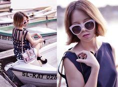 MARY-KATE FASHION: Womens Oversize Fashion Geometric Opaque Sunglasses 8701