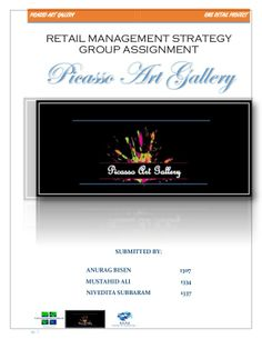 Retail management project, picasso art gallery by mustahid ali via slideshare