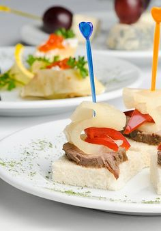 Canape with Baked Meat, Pineapple & Pepper