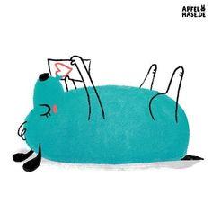 Apfelhase illustration #100dayproject #100daysofweirddogs Lexa ist entzückt, ihr wurd ein Brief geschickt. Großes Herz drin, auf Papier. Liebste Lola gab es ihr. In die Luft streckt sie den Bauch, denn sie liebt die Lola auch. Illustration, dog, dogs, Hund, drawing, love, Liebe