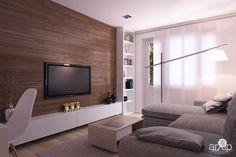 Гостиная интерьеры, зd визуализация, назначение - квартира, дом | тип - гостиная | площадь - 50 - 80 м2 | стиль - современный, модернизм | ценовой сегмент - средний | предмет - интерьер. Разместил Виктор Глушенок на портале arXip.com Living Room Modern, Home Living Room, Modern Bedroom, Living Room Decor, Living Spaces, Design 3d, Hall Design, House Design, Paint Colors For Living Room