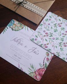 Convite de Casamento Boho Rústico Floral Kraft Estampado #convite #floral #florido #casamento #invitation #wedding #template #rustic #romantic #greenery