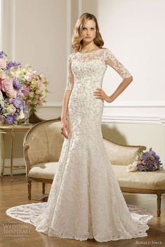 ronald joyce wedding dresses 2013 lace gown sleeves