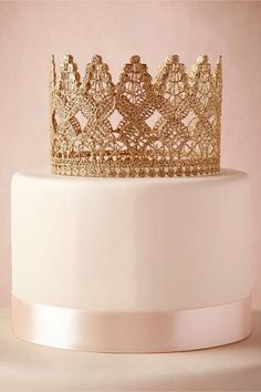Princess cake with golden crown