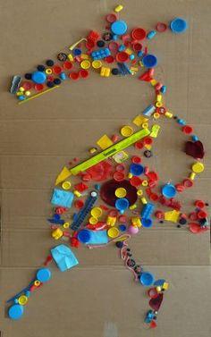 loup façon Tony Cragg --> à faire, en sélectionnant une seule couleur ...