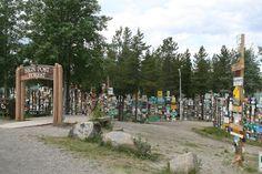 Sign Post Forest of Watson Lake, Alaska Danville Illinois, Alaska Highway, Visit Alaska, Amazing Street Art, Alaska Travel, Engineers, Ticket, Wander, Dolores Park