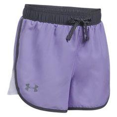 Under Armour Fast Lane Shorts for Girls - Dark Lavender - XS