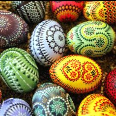 Albanian eggs for Pascha! INCREDIBLE DETAIL!