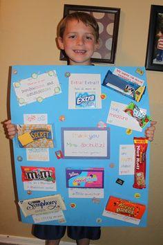 Teacher Appreciation Poster Using Candy Bars Candy Bar