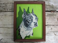 Boston Terrier PBN Paint by number vintage original by luckduck
