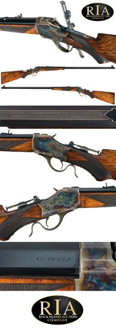 Excellent Documented Special Order .45-90 Deluxe Winchester Model 1885 High Wall Sporting Rifle with Matted Barrel with Factory Letter