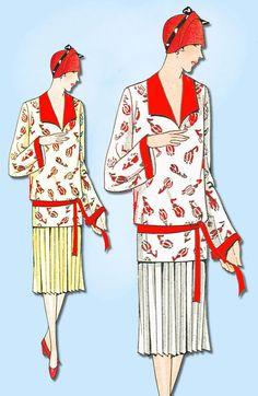 1920s VTG Ladies Home Journal Sewing Pattern 5506 Uncut Misses Flapper Dress 36B