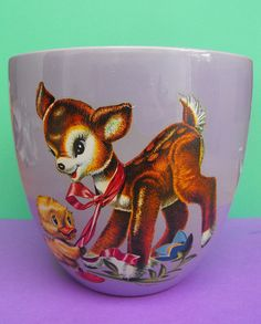 Bambi Kitsch, this would look cute with cotton wall balls, makeup brushes or stationary