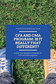 Choosing between the CFA and the CMA? What are the differences? Which one's better? Find out here!  #accountant #CMAExam #CMA