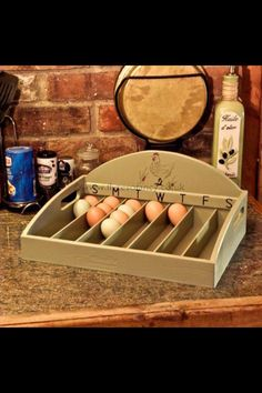 Egg holder - great idea. Can use this idea with regular egg cartons and label each row with the day of the week.