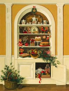 White Cupboard ~ by Charlotte Joan Sternberg