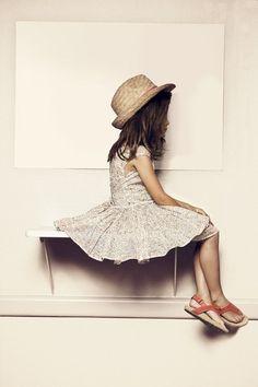 little girl wondering where her life is going