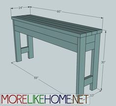 Ana White   Build a 2x4 Chunky Console   Free and Easy DIY Project and Furniture Plans